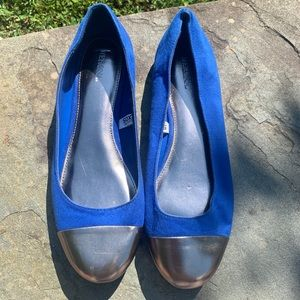 MERONA blue and silver flats. Size 9.5